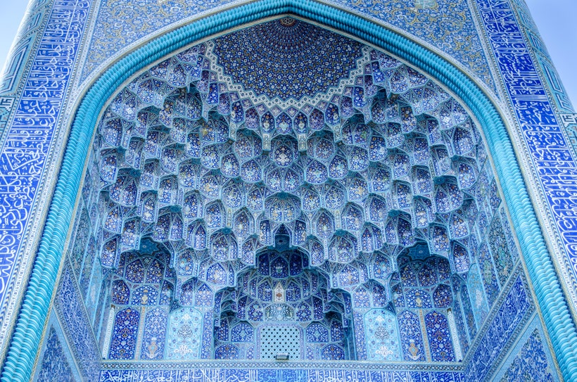 Shah Mosque in Isfahan, Iran: One of the world's most beautiful mosques, it  is known for its splendid architecture and seven-colour mosaic tilework –  The Dispatch