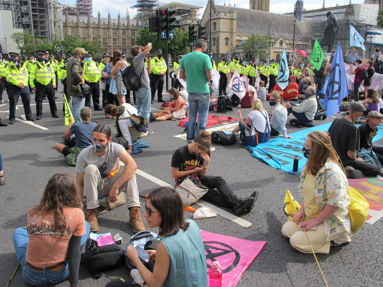 Extinction Rebellion newspaper protest: Twenty-six charged