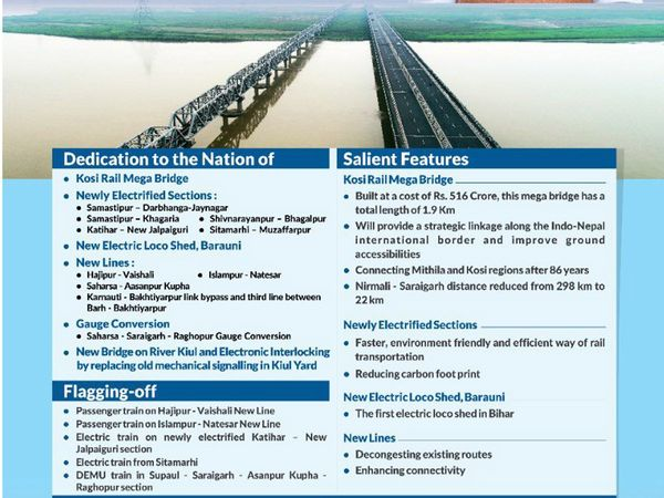 PM Modi to inaugurate the historic Kosi Rail Mega Bridge in Bihar