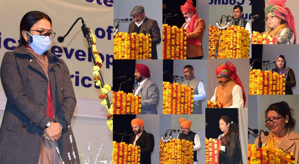 Newly DDC elected DDC members take oath, first without mention of state constitution